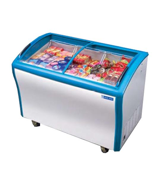 Deep Freezer Glass Top Ice Cream Freezer Island