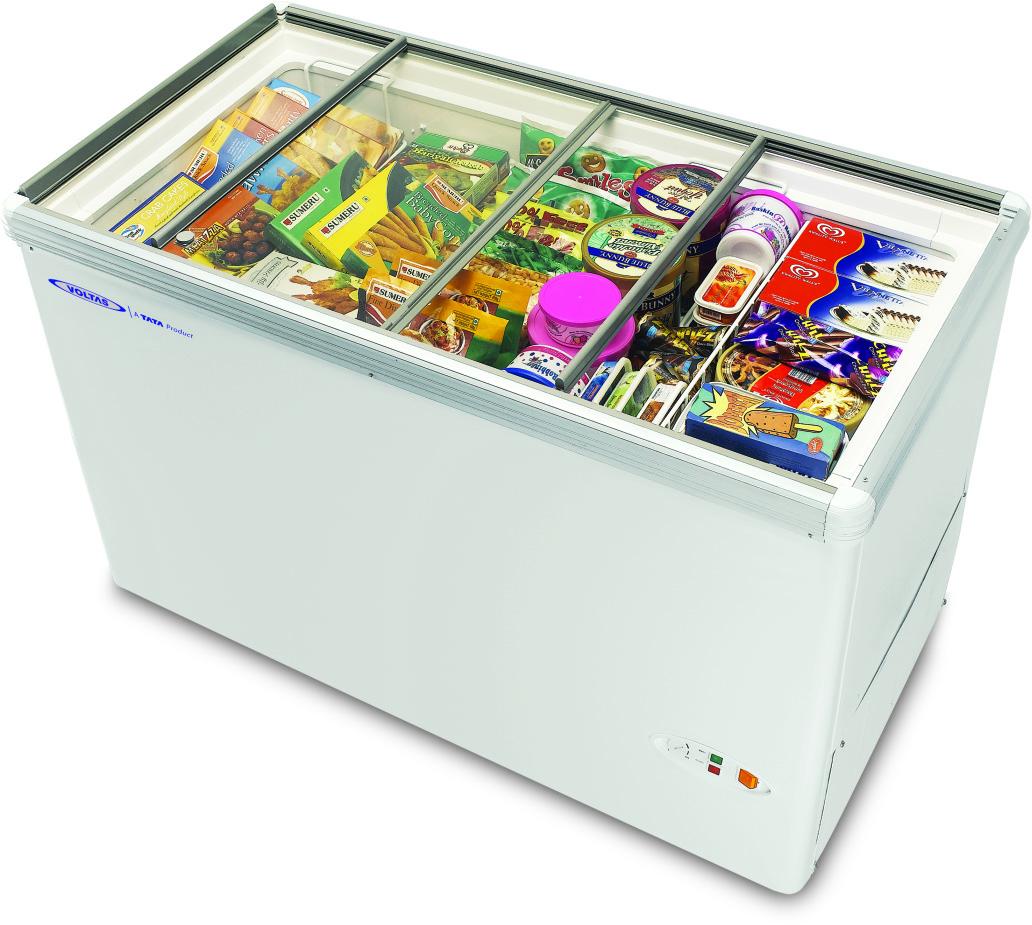 Voltas Glass Door Refrigerator Deep Freezer Glass Top