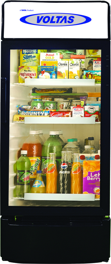 Voltas Glass Door Refrigerator Deep Freezer Glass Top